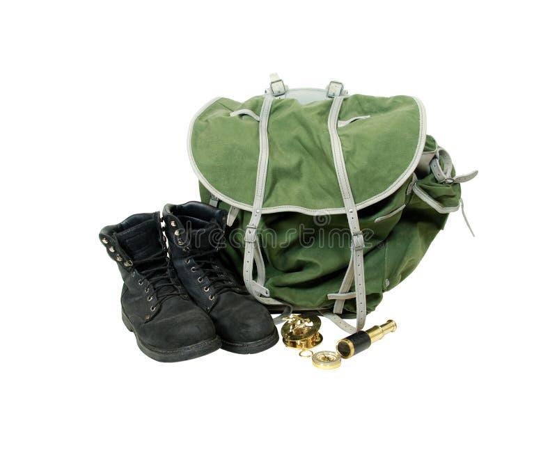 backpacking narzędzia obraz royalty free