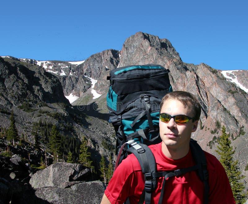 Backpacking nel Montana Wildnerness fotografie stock