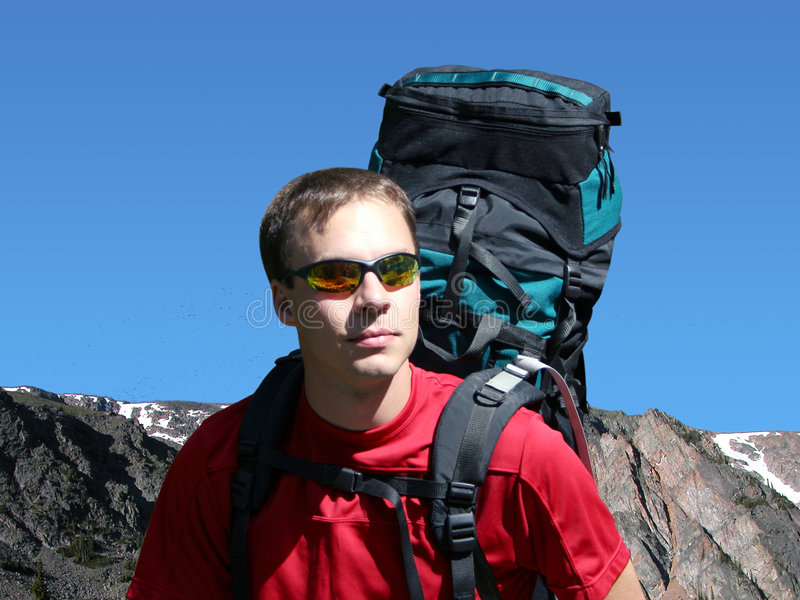 Backpacking no Montana Wildnerness fotos de stock