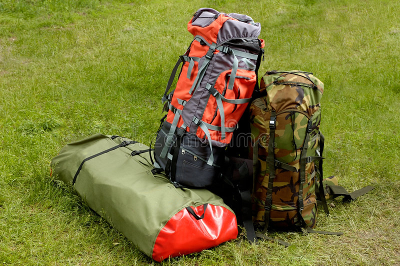 Backpacking time royalty free stock photos