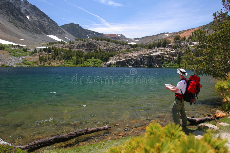 Backpacking in Yosemite royalty free stock images