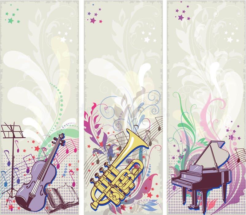 Backrgounds Musicais Foto de Stock Royalty Free