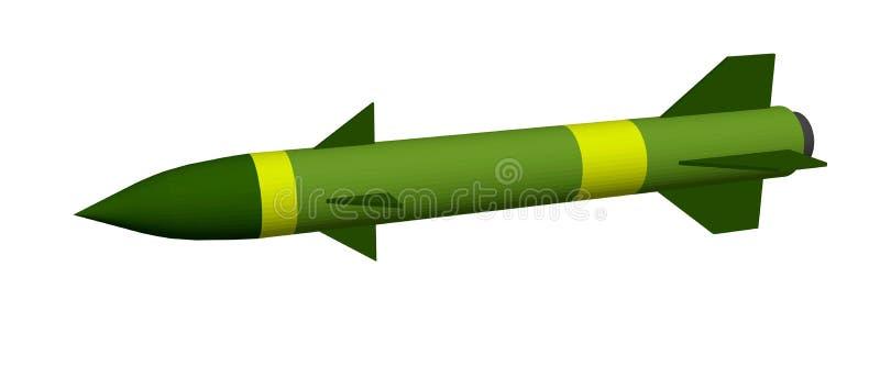 backround查出的军事导弹白色 背景查出的白色 3d例证向量 向量例证