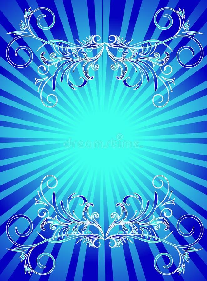 backround蓝色 皇族释放例证