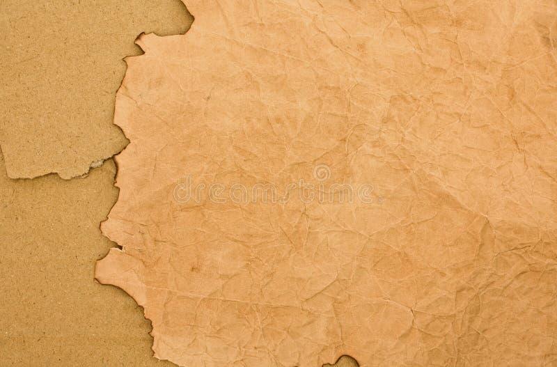 backround被烧焦的纸板纸张 免版税库存图片