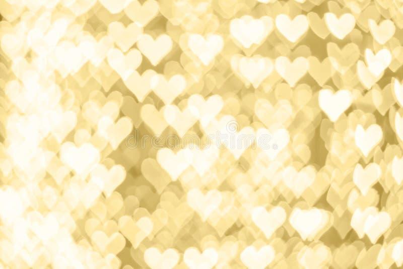 Backround abstracto del bokeh del vintage del oro de la Feliz Año Nuevo o de Chris fotografía de archivo