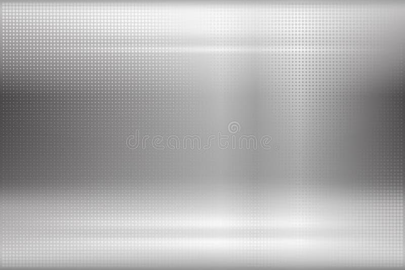 Backround abstrato do metal ilustração stock