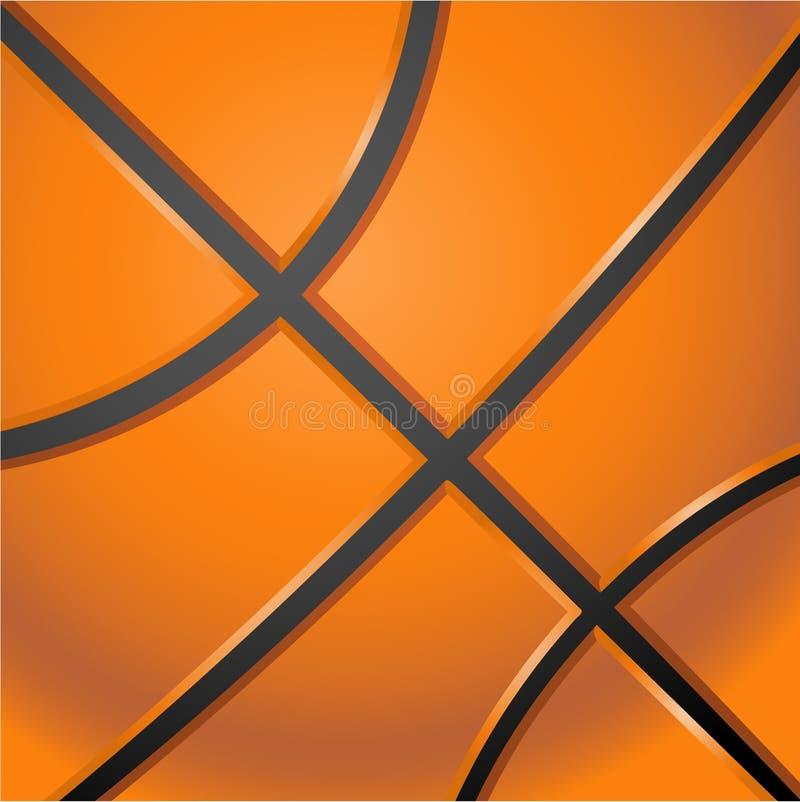 Backround anaranjado del baloncesto ilustración del vector
