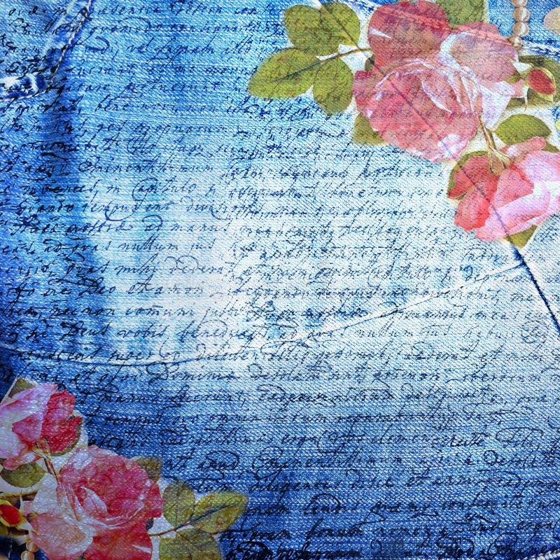 Backround astratto dei jeans royalty illustrazione gratis