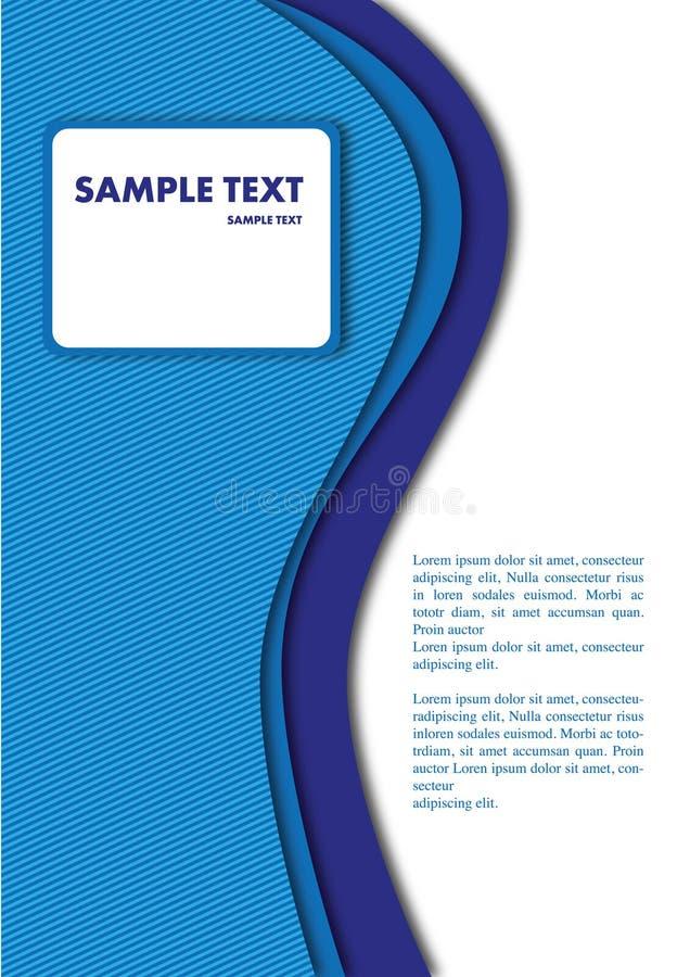 Backround blu illustrazione di stock