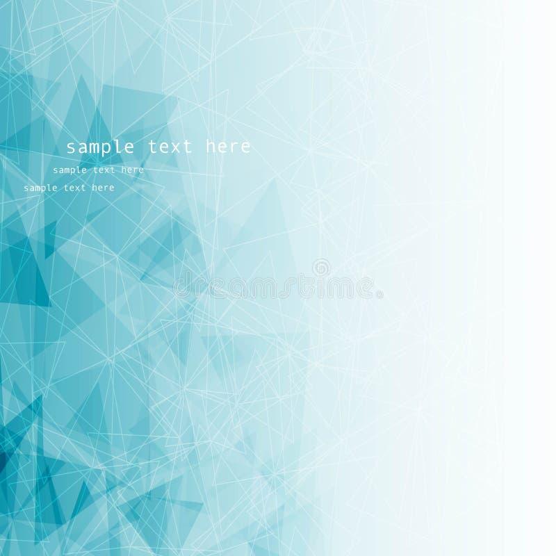 Backround blu astratto con la linea ed il triangolo mozaic royalty illustrazione gratis