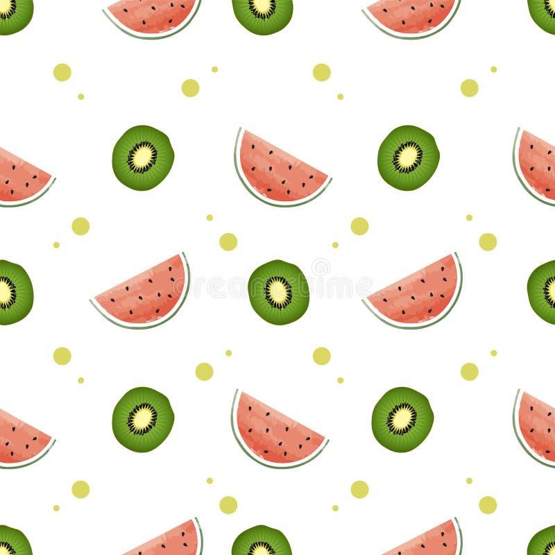 Backround colorido de la fruta del modelo inconsútil stock de ilustración