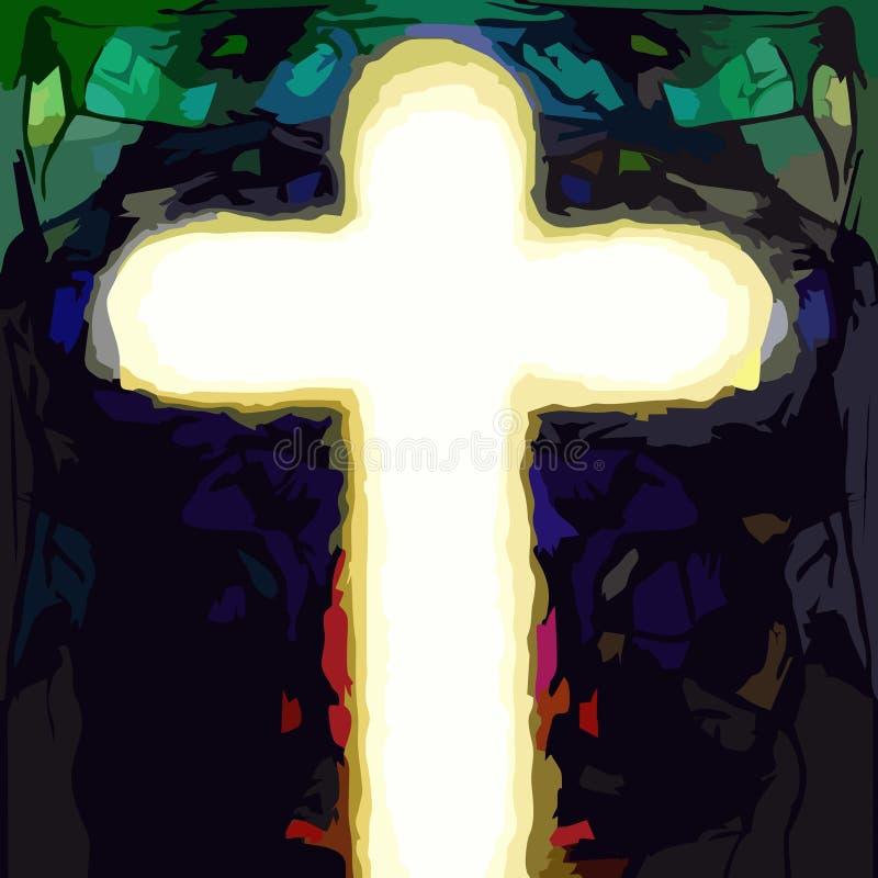 Cross of jesus christ savior royalty free stock photography