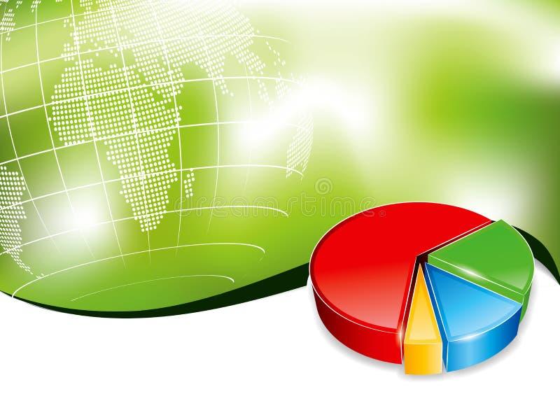 Backround d'affaires avec le diagramme 3d illustration libre de droits