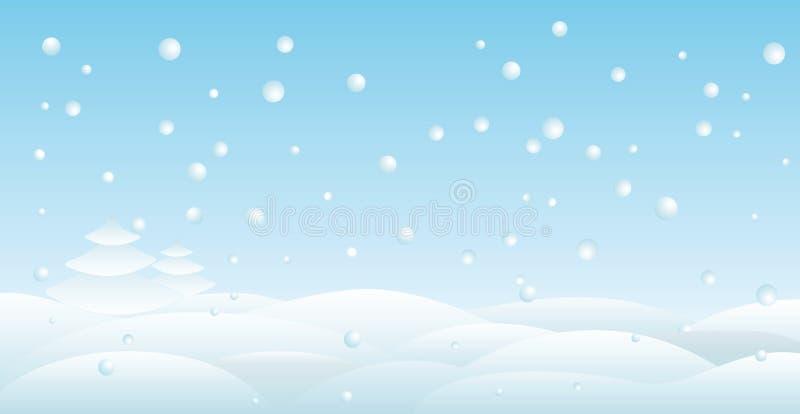 Backround da neve ilustração royalty free