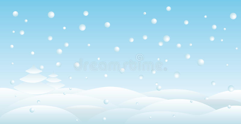 Backround de neige illustration libre de droits