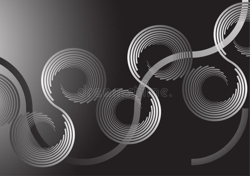 Backround espiral ilustração do vetor