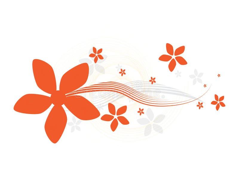 Backround floral abstrato ilustração royalty free