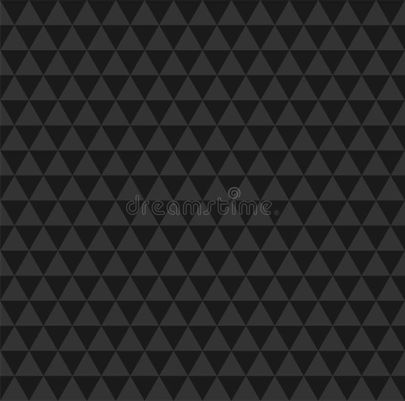 Backround inconsútil del extracto negro del mosaico Modelo polivinílico bajo triangular del estilo stock de ilustración