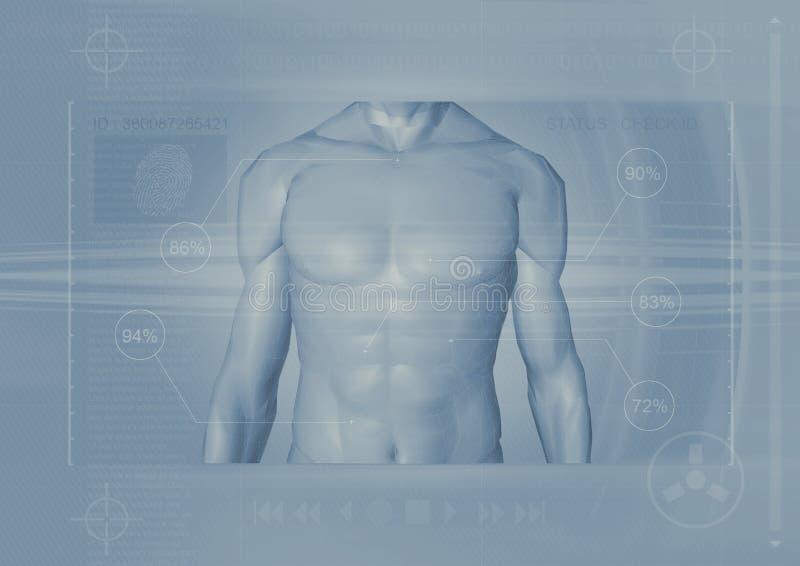 Backround masculino del torso stock de ilustración