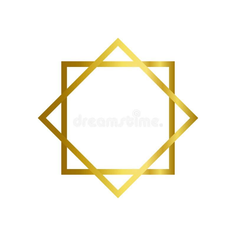 Backround musulmán del whrite de la plantilla del diseño del ejemplo del vector del icono libre illustration