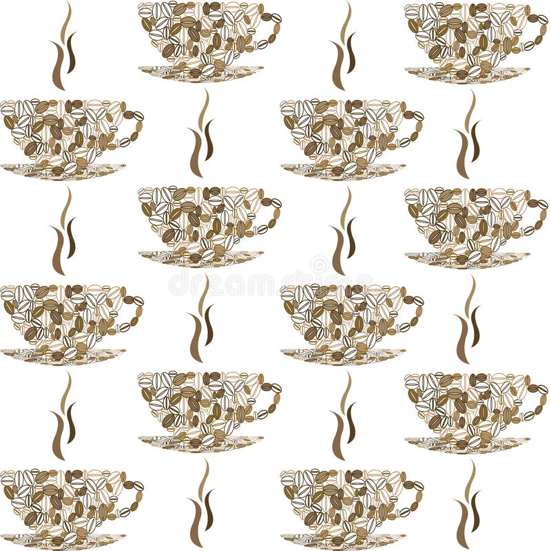 Download Backround Pattern With Coffee Cups Stock Vector - Illustration of graphic, pattern: 22286841