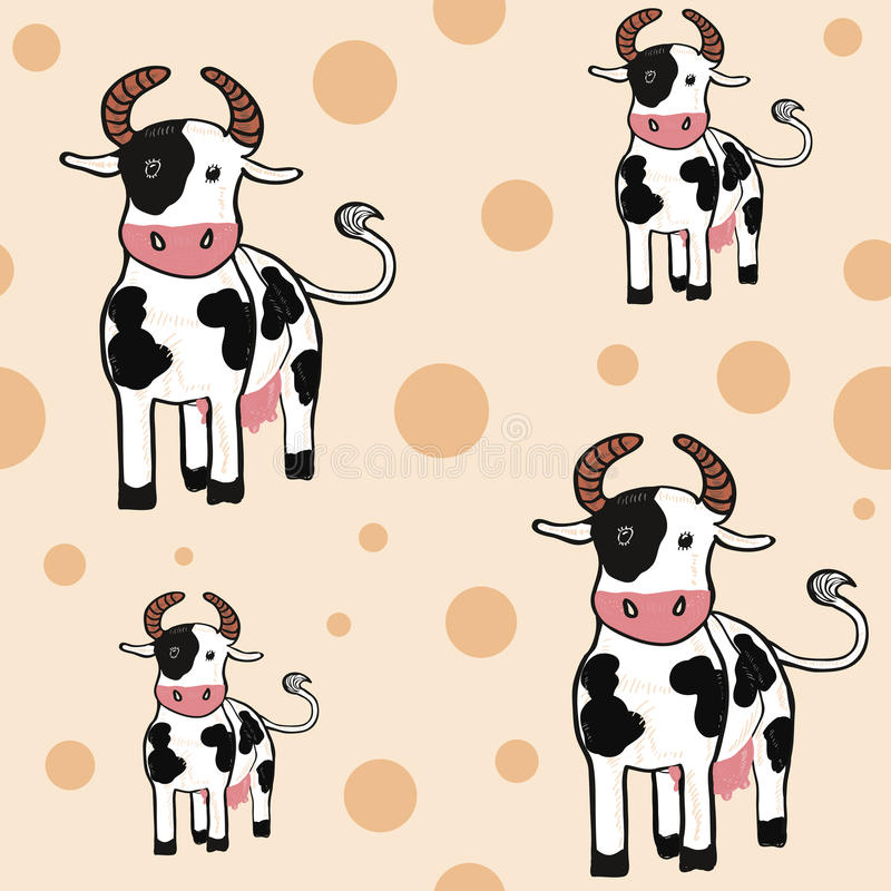 Backround sans joint de belles vaches illustration stock
