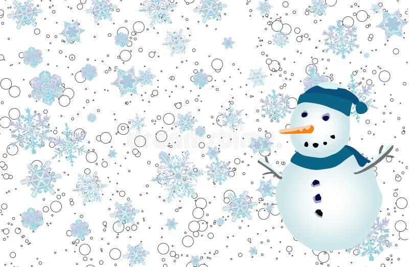 Backround, snowlakes, illustrazione vettoriale