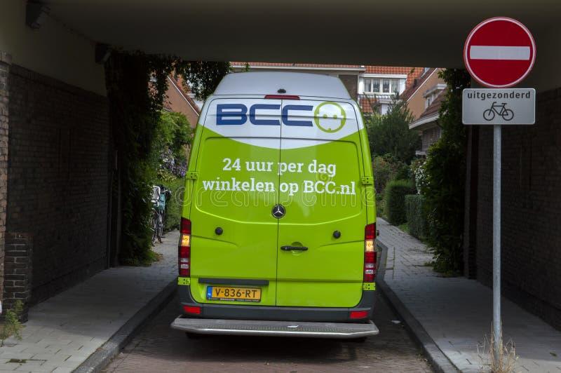 Backside BCC Company Car Em Betondorp Amsterdam Países Baixos 2019 imagem de stock