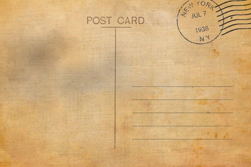 Backside of blank postcard royalty free illustration