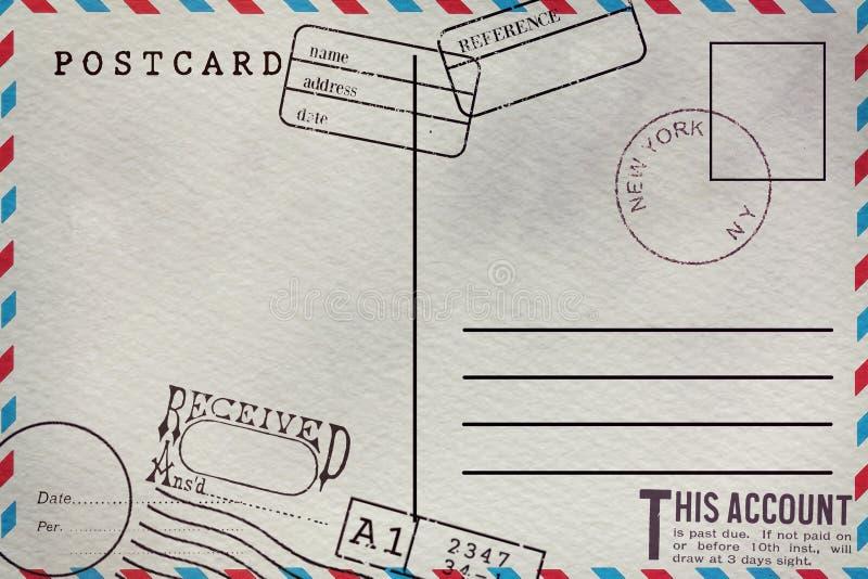 Backside of blank postcard vector illustration