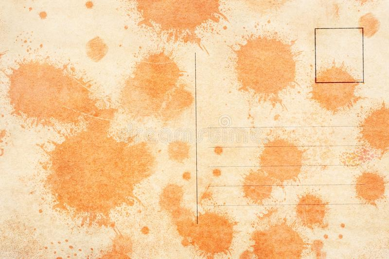 Backside of blank postcard with dirty stain vector illustration