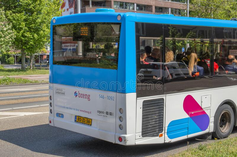 Backside Breng Bus Ad Amsterdam, Paesi Bassi 2019 immagini stock libere da diritti
