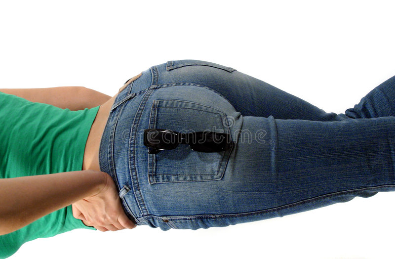 Backside in Jeans stock photo