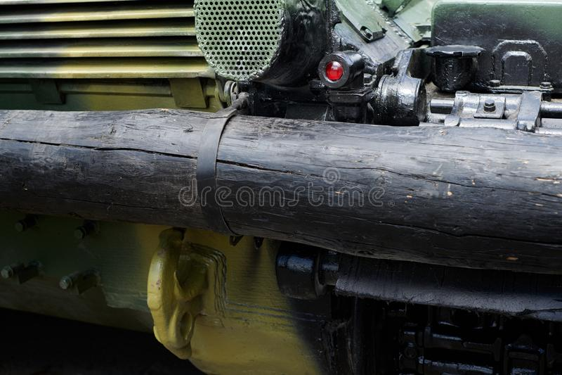 Backside of a military tank close view stock photography