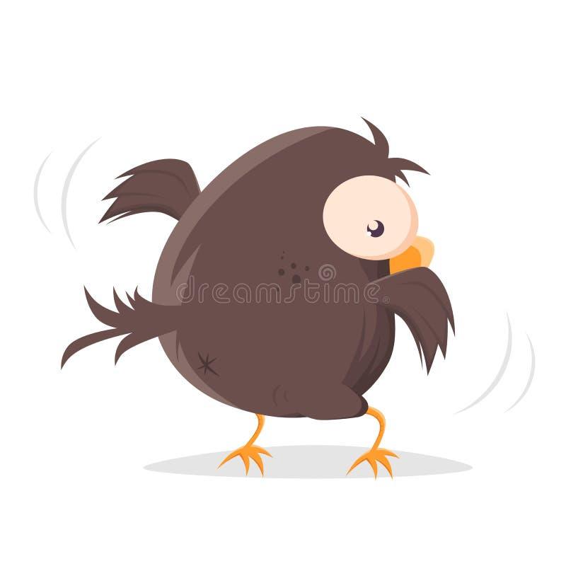 Free Backside Of A Funny Cartoon Bird Royalty Free Stock Image - 205564076