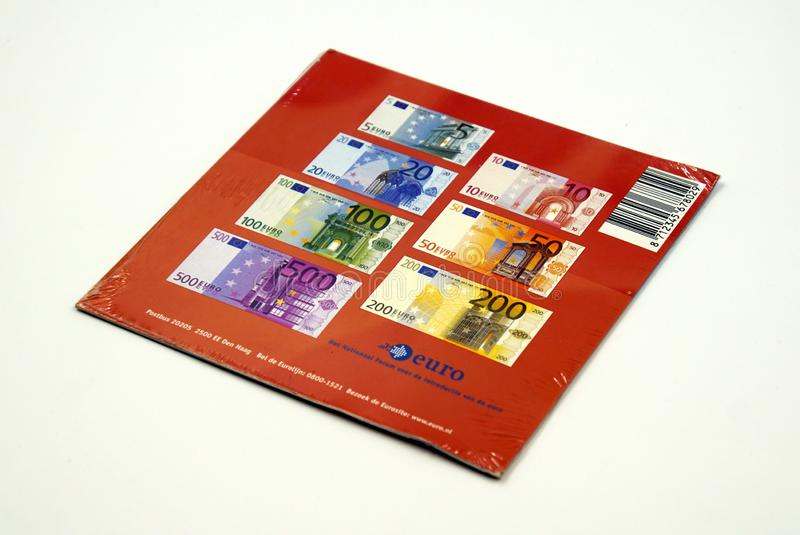 Backside of the official Dutch Euro coin starter kit royalty free stock images
