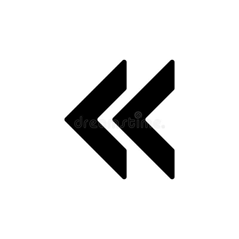 Backsightkennzeichenikone Element der minimalistic Ikone für bewegliche Konzept und Netz apps Zeichen und Symbolsammlungsikone fü vektor abbildung
