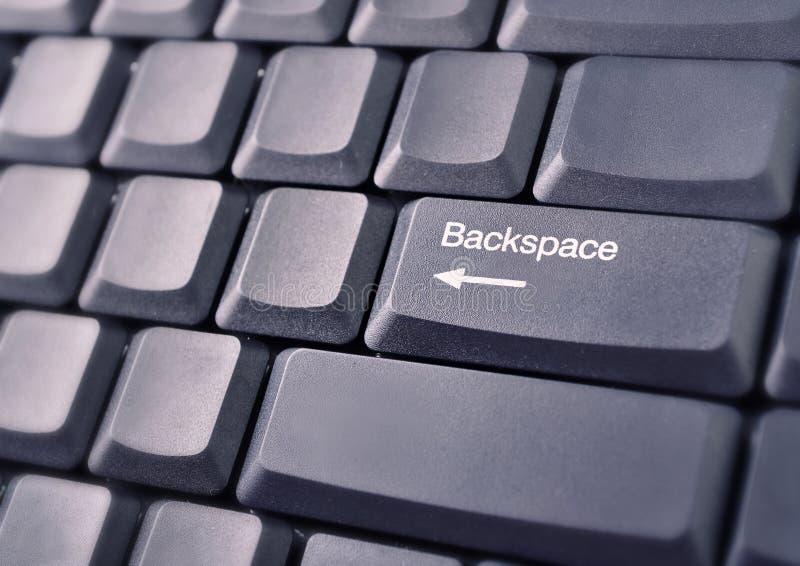 Backspace key computer keyboard. Close-up stock photo