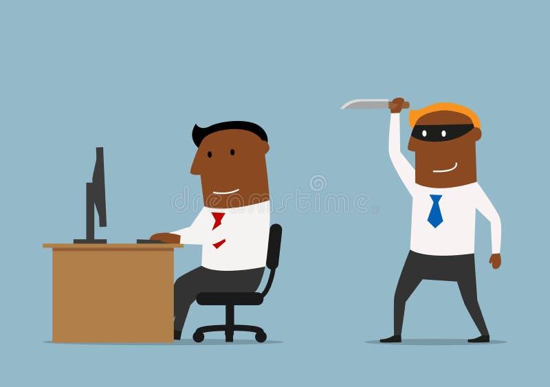Backstab ou traição do projeto de negócio do concorrente ilustração stock