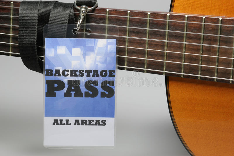 Backstage Pass. For the stage area you only get a backstage pass access royalty free stock image