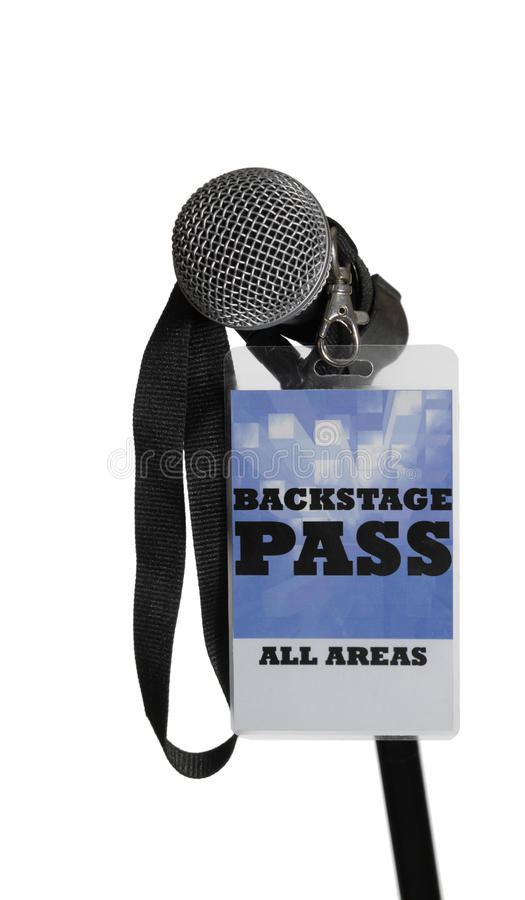 Backstage Pass. For the stage area you only get a backstage pass access stock image