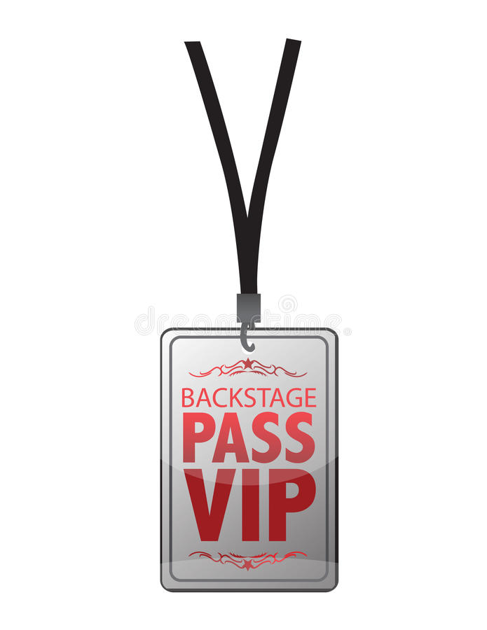 Download Backstage pass vip stock vector. Image of attendee, delegate - 18241284