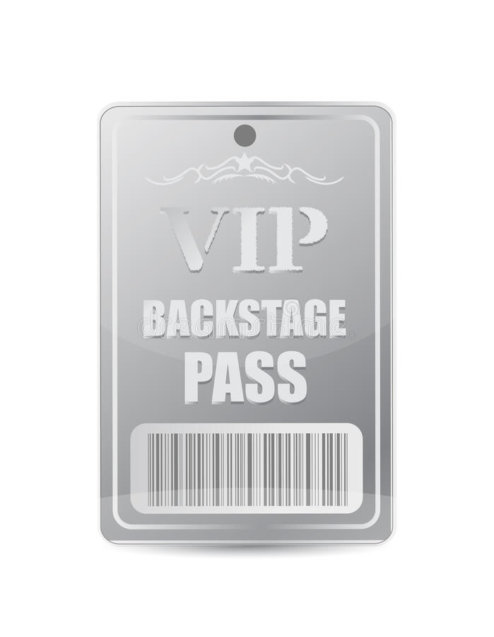 Backstage pass vip stock illustration. Illustration of back - 29509562