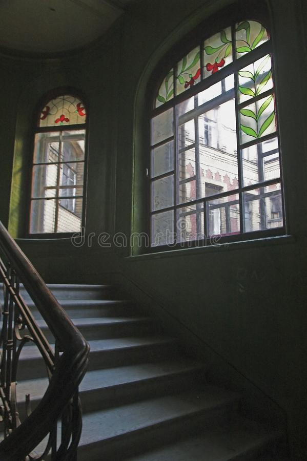 Backstairs royalty free stock photography