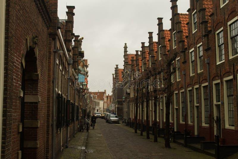 Backsteinhäuser Haarlem stockfotos