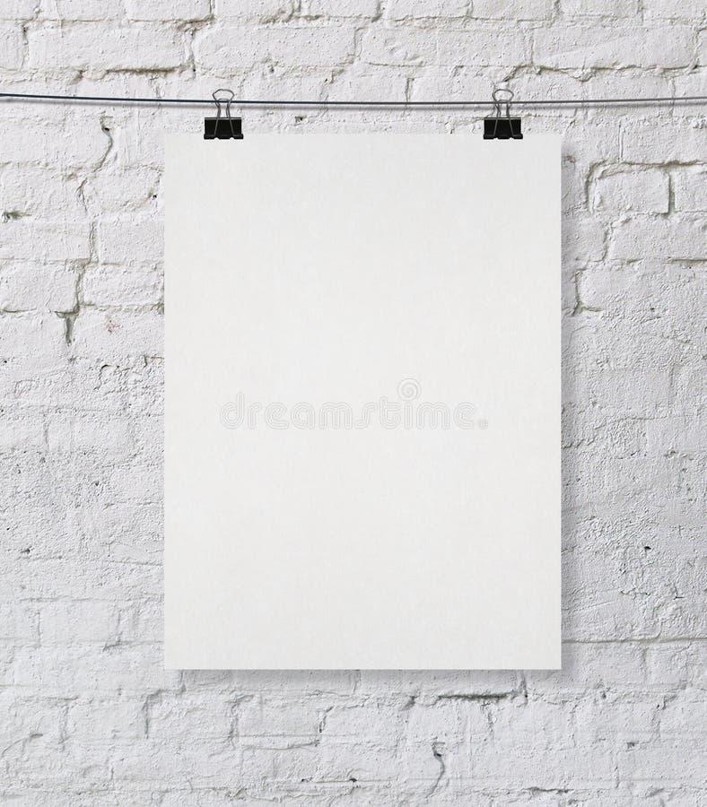 Leeres Plakat lizenzfreie abbildung