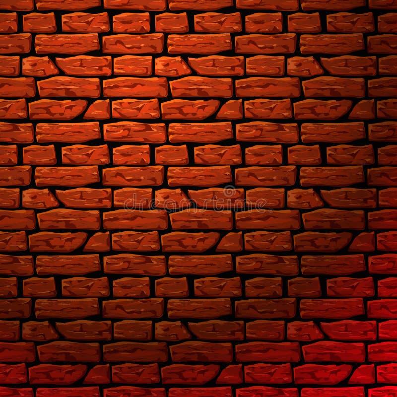 Backsteinmauer nahtloses patern vektor abbildung