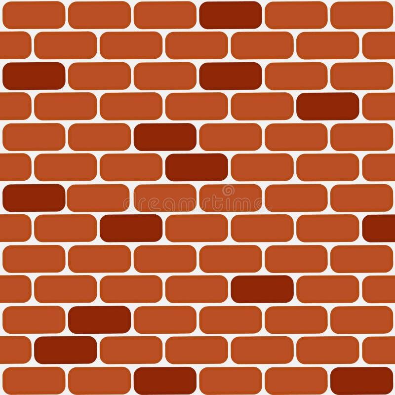 Backsteinmauer-Vektor Horizontaler Hintergrund der Backsteinmauer vektor abbildung