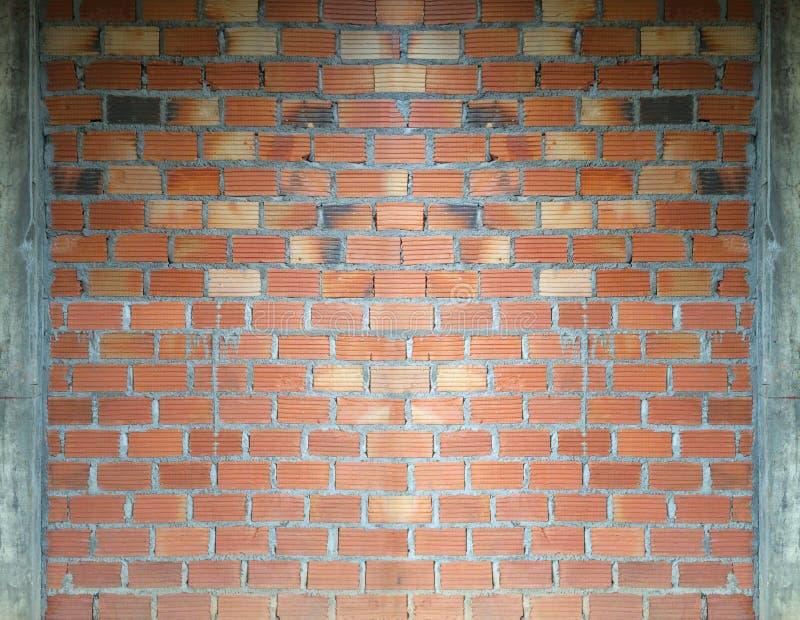 Backsteinmauerbauhintergrund stockbilder